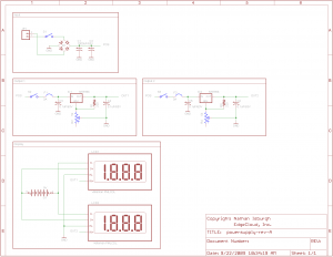 Simple variable power supply schematic