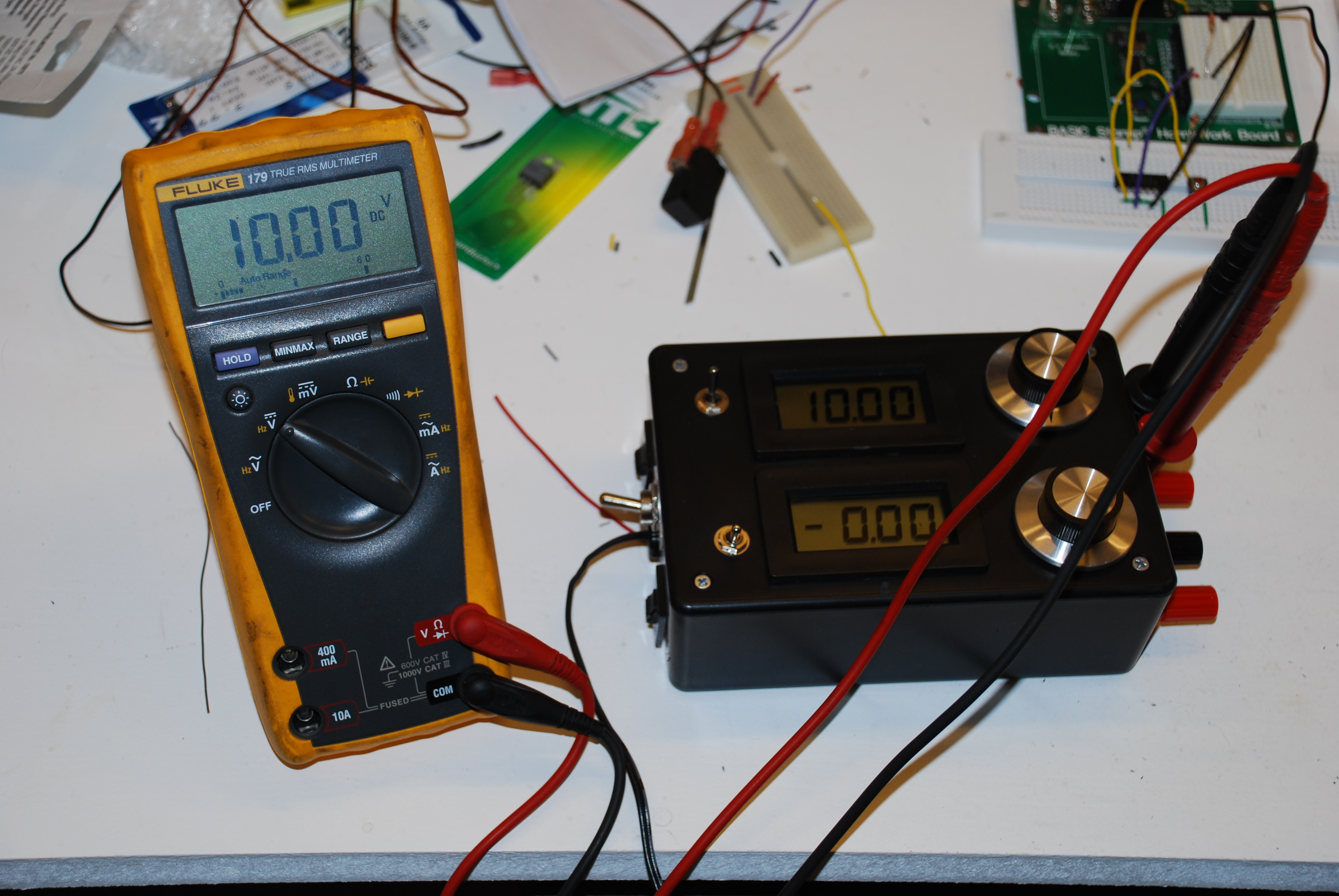 this and that series variable power supply what else would it be finally my own dual output variable power supply