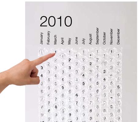 Bubble Wrap Calendar!!